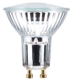 (59024) S-50PAR16/CAP/GU10/FL40 50W 120V PAR16 GU10 BASE 40-DEGREE FLOOD HALOGEN LAMP
