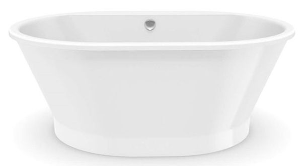"60"" x 42"" x 23"", White, Fiberglass, Center Drain, 2-Piece, Soaker, Freestanding, Bathtub"