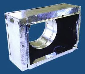 """10"""" x 8"""" x 8"""", Insulated, Register, Sheet Metal Box with Snap-Rail Flange"""
