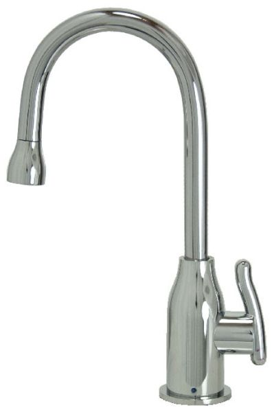 """8"""" H x 4-9/16"""" Clearance x 4"""" Reach, Lead-Free, PVD Brushed Nickel, Drinking Faucet with 1/4 Turn Ceramic Cartridge, Modern Curved Body and Handle"""