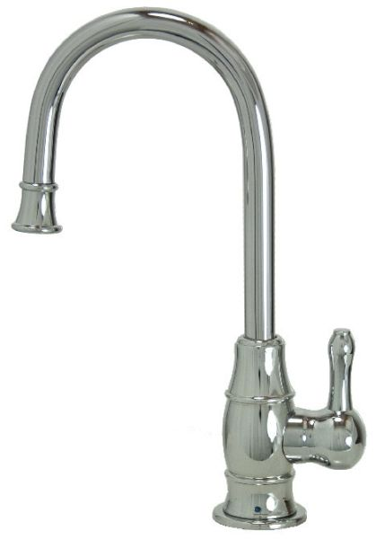 """8"""" H x 4-5/8"""" Clearance x 4"""" Reach, Lead-Free, PVD Polished Nickel, Drinking Faucet with 1/4 Turn Ceramic Cartridge, Traditional Curved Body and Curved Handle"""