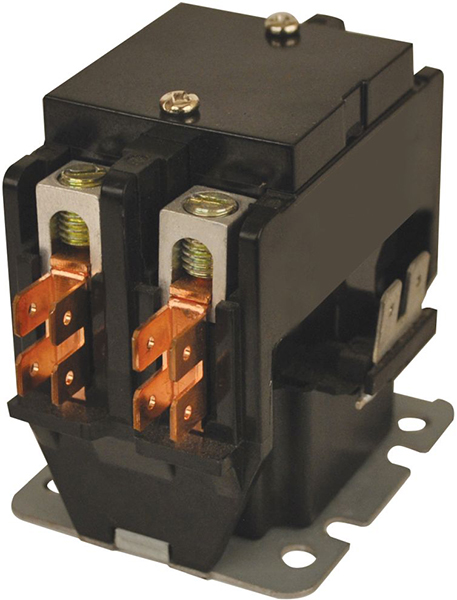 30 A, 240 V Coil, 30 A Inductive, 40 A Resistive, 2-Pole, Definite Purpose Contactor