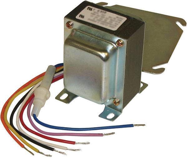 120/208/240 VAC Primary, 24/12/2.5 VAC Secondary, 48 VA, Class II Insulation, Lead Wire/Screw Terminal, Foot/Plate/Conduit Mount, Control Transformer
