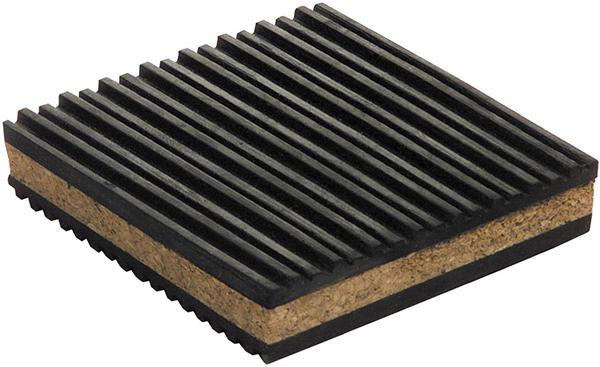 "2"" x 2"" x 7/8"", 60 PSI, Cork/Rubber, Anti Vibration Pad"