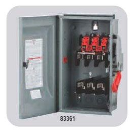 600 VAC, 60 A, 3-Phase, Steel, Fusible, Heavy Duty, Enclosed Disconnect Switch