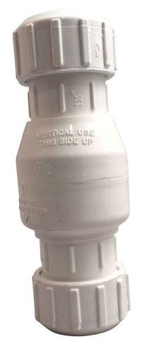 "1-1/2"", IPS Compression x IPS Compression, 125 PSI, Lead-Free, PVC, Swing, Check Valve"