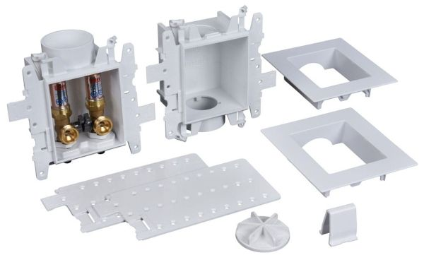 """Forged Brass Valve, 3.38"""" x 4.85"""", Washing Machine Outlet Box with Water Hammer Arrester"""