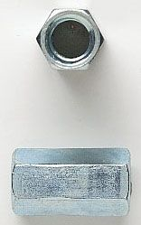 "3/8""-16 TPI, Zinc Plated, Steel, Rod Coupling Nut (100-Box)"