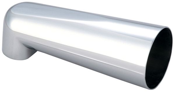 "7"" L x 2-1/2"" W x 6-1/8"" Reach, 1/2"" IPS/Slip-Fit, Polished Chrome, Die-Cast Zinc, Extended, Tub Spout"