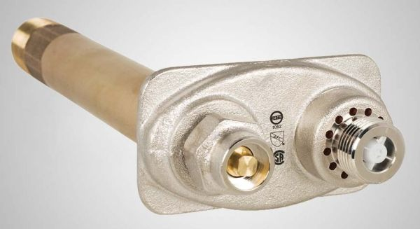"1"" x 3/4"" x 3/4"", MPT x FPT x GHT, 8"" Rough-In, 125 PSI, Cast Brass, Anti-Siphon, Freezless, Wall Hydrant"