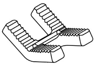 Lower, Jaw for Bench Yoke Vise