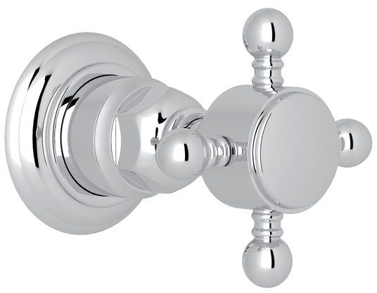 Polished Chrome, Brass, Cross, Faucet Volume Control Trim
