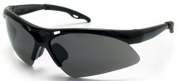 Grey Anti-Fog Coated Polycarbonate Lens, Black Frame, Non-Slip Temple/Nose Piece, Wrap Around, Safety Glasses