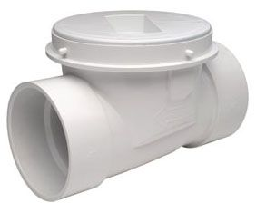 "4"", Hub x Hub, PVC, Extendable Shallow/Deep, Backwater Valve"