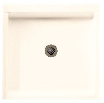 "36"" x 36"" x 5-1/2"", White, Veritek, Center Drain, Single Threshold, Square, Shower Floor"