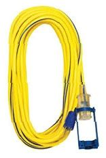 100', 300 V, 15 A, 12 AWG, 3-Conductor, Yellow/Blue, SJTW, Extension Cord