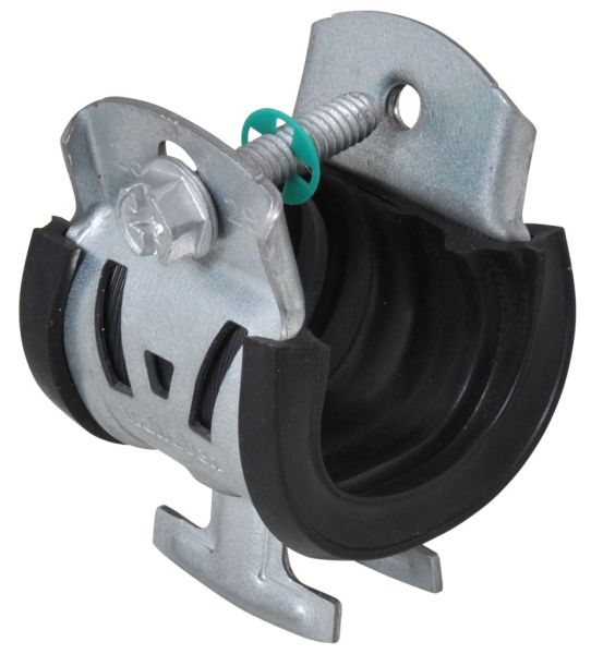 40 to 43 MM, 400 Lb, Steel, Pipe to Strut, 1-Piece, Cushion Clamp