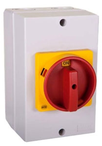 25A 10HP IP66 3  POLE DISCONNECT SWITCH