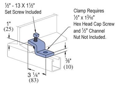 UNISTRUT 1/2-13 X 1-1/2 BEAM CLAMP