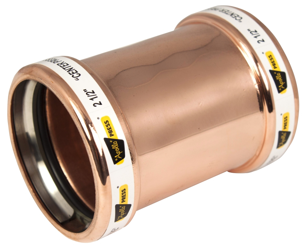 """2-1/2"""" Copper Coupling without Stop"""