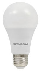 (74399) S-LED9A19/DIM/O/830/U 9W 120V 3000K MEDIUM (E26) BASE DIMMABLE FROSTED LED A19 LAMP 800 LUMENS 15,000 HOUR AVERAGE RATED LIFE