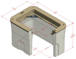 CHRISTY N09-BOX CONCRETE 14X8-5/8-IN OPENING 12-IN BODY
