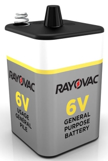 RAYOVAC 941C 6V SPRING TERMINAL GENERAL PURPOSE LANTERN BATTERY