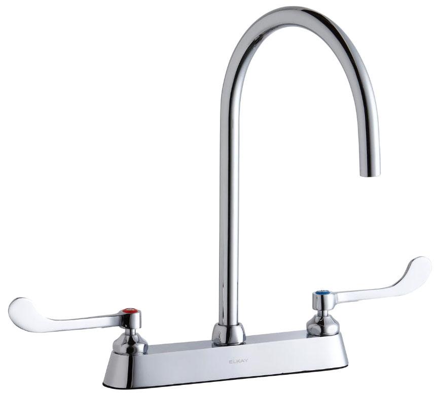 Commercial Deck Mount Kitchen Faucets