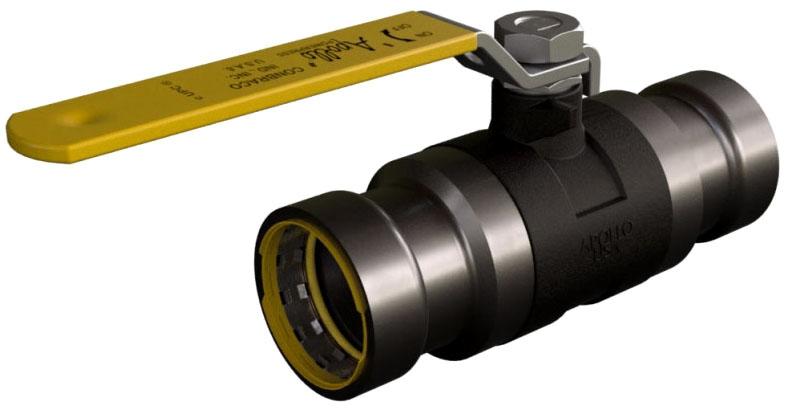 "89FVH4501 1"" GAS POWERPRESS APOLLO CARBON STEEL BALL VALVE -Yellow GAS visual Ring"