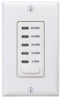 EI205W ELECTRONIC AUTO-OFF TIMER 5/15/30/45/60 MINUTE WHITE