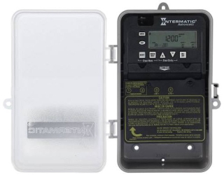 INT ET8015CPCD82 7-DAY 30A SPST ELECTRONIC ASTRONOMIC TIME Switch N3R w/CLEAR COVER FOR EASY VIEWING TRACKS SUNRISE/SUNSET