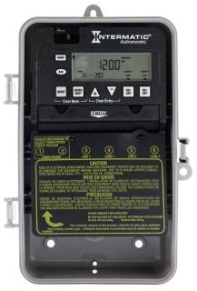 ET8215C 7-DAY ELECTRONIC ASTRONOMIC TIMER WITH AUTO DAYLIGHT SAVINGS MULTI-VOLT PULSED CONTACT FEATURE