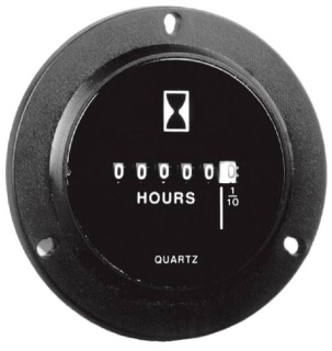 GZ40BU DC HOUR METERS ROUND 3 HOLE BEZEL: 2.8