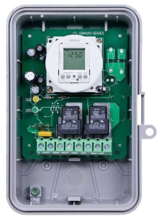 GM40AVE 24-HOUR/7-DAY ELECTRONIC 40A, SPDT/DPDT, AUTO-VOLTAGE, NEMA 3R OUTDOOR PLASTIC ENCLOSURE WITH BATTERY BACK UP