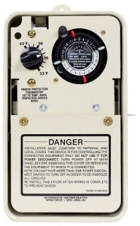 PF1102T TIMER W/THERMOSTAT IN RAINPROOF ENCLOSURE, 240V INSTALLATION