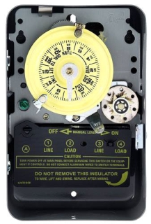 T174 INTERMATIC 24HR TIME CLOCK SWITCH WITH SKIPPER DOUBLE POLE SINGLE THROW (DPST) 208-277V 40-AMP