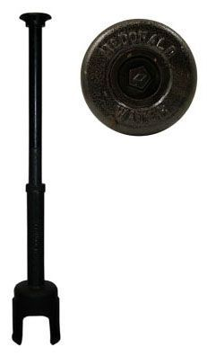 "2-1/2"", 1-1/2 to 2' L, 2"" Rod, Large Arch Pattern, Shut-Off Rod Top, Cast Iron, Pentagon Plug-In, Curb Box"