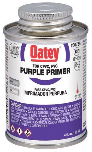 Oatey Purple PVC Primer - 4 Oz