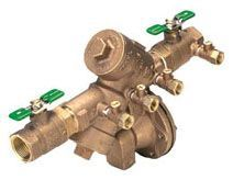 """1"""", FPT x FPT, 175 PSI, Lead-Free, Cast Bronze, Reduced Pressure, Backflow Preventer with Full Port Union Valve"""