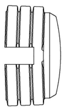 "12"", HDPE, Dual Wall, Corrugated, End Cap"