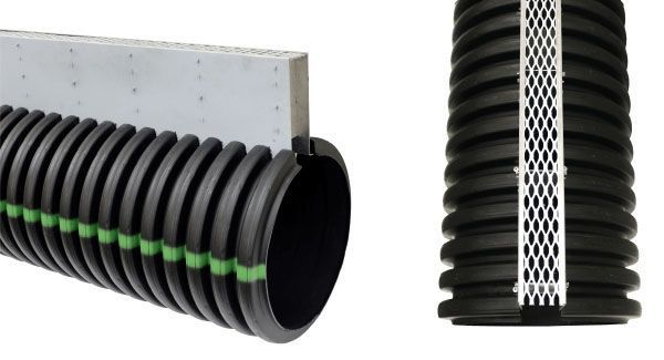 "12"" x 120"", HDPE, Dual Wall, Pipe with 6"" Aluminum Grate"