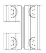 "12"" x 12"", DuraSlot x Surelok, HDPE, Dual Wall, Corrugated, Adapter"