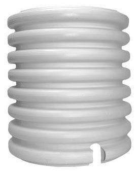"""18"""" ID x 21.5"""" OD x 36"""" L, White, HDPE, Dual Wall, Notched, Gas and Water Meter Pit"""
