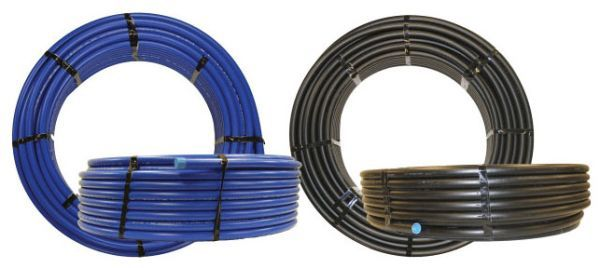 "1"" x 100', CTS x CTS, 250 PSI, Black, HDPE, Water Service Tubing"