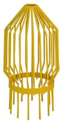 "8"", Yellow Powder Coated, 1/4"" Steel Rod, Standard, Bar Guard"