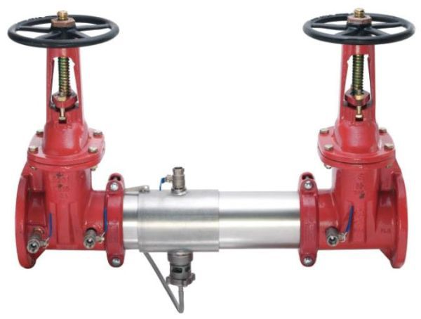 "4"", 175 PSI, Lead-Free, Stainless Steel, Reduced Pressure Zone Assembly, Backflow Preventer with Outside Stem and Yoke Resilient Seated Gate Valve"