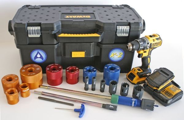 """3/4 to 2"""", 2 AH Battery, Hot Tapping Machine Kit"""