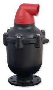 """2"""" MPT Inlet, 2"""" FPT Outlet, 150 PSI, Plastic, Automatic, Straight Flow, Side Outlet, Combination Air Release Valve"""