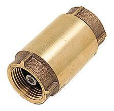 """3/4"""", FPT x FPT, 200 PSI, Lead-Free, Cast Brass, Poppet, Spring Loaded, Check Valve"""