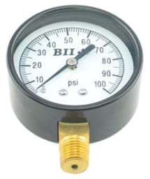 "0 to 30 PSI, 2-1/2"" Aluminum Dial, 1/4"" MPT Lower, Lead-Free, Stainless Steel, Pressure Gauge"